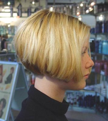 Inverted Stacked Bob Side View How Cut Hair Like Professional Pictures