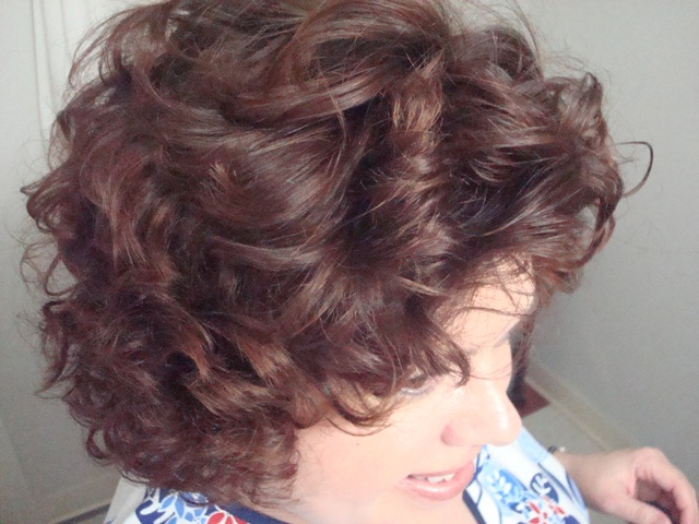 wet set hairstyle. I wash every other night, put some mousse in - wet set the curlers and go to