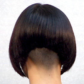 Inverted Bob Hairstyles with Shaved Nape