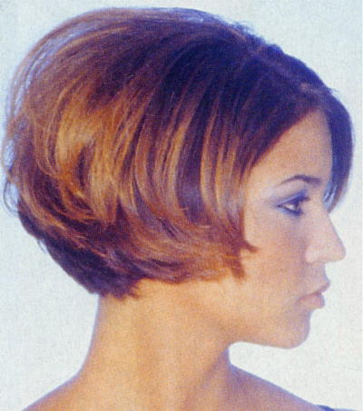 Medium Length Layered Bob Haircut. medium bob hairstyle in thick