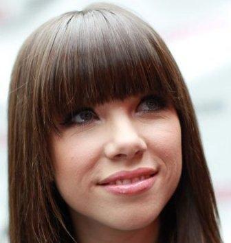 Carly Jepsen Thick Bangs Long Hair Hairtalk 71538
